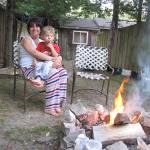 fire pit and sand box