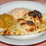 my plate, that garlic naan bread is just the best!!