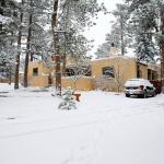 Front exterior during the snow 'storm'