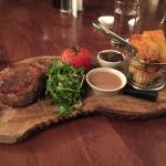 Rib eye steak for Main - cooked perfectly and such a tender steak. A must have if you visit!!