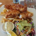Fish and chips at L'Hotel