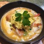 Shrimp sausage and eggs 👍👍