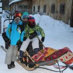 our sled was comfy!