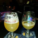 12 beers on tap. I'm in love with New Belgium's Accumulation white IPA. The bar is nice but we u