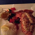 12  oz Lobster Tail with Jasmine rice
