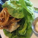'Wild thing' with lettuce wrap instead of bun