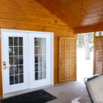 Outdoor deck and privacy door: Utopian Chalet - Venus