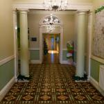 Front hall- with Christmas cheer!