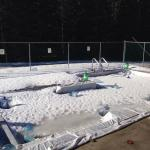 Kids pool,  very small, it's not always this icy though! March 2015.
