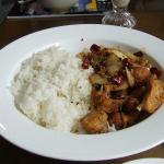 Spicy crispy Chicken on Rice