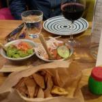 Nachos and salsas