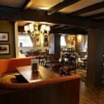 Booth area in the Lord Belper restaurant Ideal seating for families