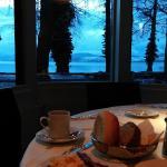 Breakfast in hotel, by thun lake