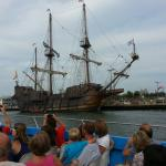 On our boat trip, happened to be an old pirate ship that was docked