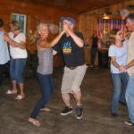 Lantrys and guest dancing at the weekly Barn Dance