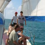 On sailboat for full day snorkeling.