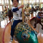 He loves carousels!