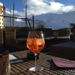Aperol Spritz on the hotel terrace.
