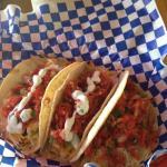 Chicken Tacos w/cheese & white sauce