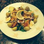 Cajan salmon salad