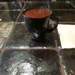 The spice hot chocolate