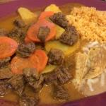 Beef stew (back side of menu)