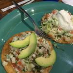 Tostadas of ceviche and shrimp