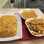 Chicken biryani & Aunty's poutine