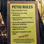 'Petio' rules -- bring your dog!