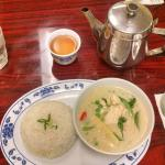 Green Curry with Chicken and Jasmine tea