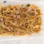 Mee noodles with chicken n prawns
