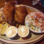 Fresh dory caught fish with fries and coleslaw. Was special of the day so had to try and SO glad