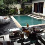 Pool in sea villas at 4s