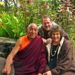 "With our friend, the resident monk, Venerable Lobzang Toldan ""Tiapala"""