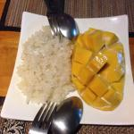 Sticky Rice and Mango - well worth ordering a day in advance!