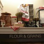 display in King Arthur flour store