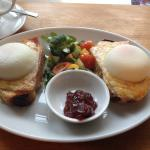 Croque Madame with perfect poached eggs