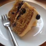 Blueberry and Pear cake. So tasty!