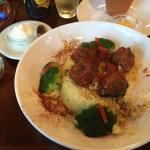 Lamb Meatballs with tomato mint sauce