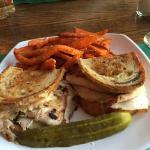 PInhead Susan's Turkey Reuben w/Sweet Potato Fries