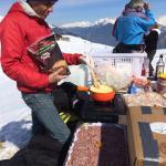Apéro fondue offert au sommet