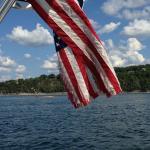 flag on an island