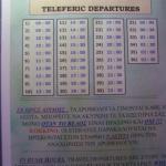 horaire téléphérique