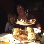 Mother and Daughter enjoing afternoon tea together