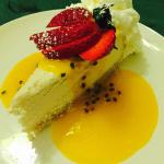 Tarta de queso con chocolate blanco espectacular
