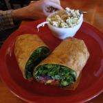 Vegetable Wrap with Chili Lime Coleslaw