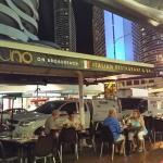 Uno sidewalk restaurant on Surf Parade