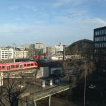 View overlooking Cologne Station from our room