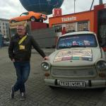 Barry with a trabant