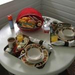 ラナイでの朝食
